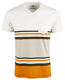 Men's Explorer Stripe V-Neck T-Shirt, Created For Macy's