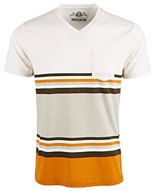 American Rag Men's Explorer Stripe V-Neck T-Shirt, Created For Macy's