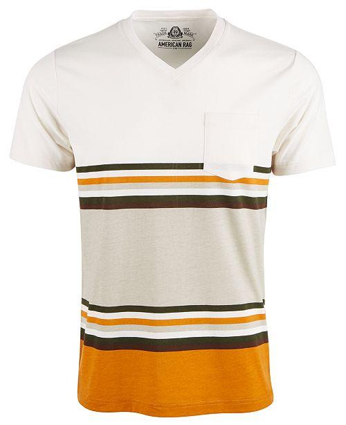 American Rag Men's Explorer Stripe V-Neck T-Shirt, Created For Macy's