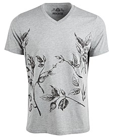 Men's Placed Dry Floral T-Shirt, Created For Macy's