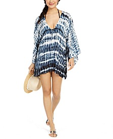 Tie Dye Batwing-Sleeve Cover-Up Dress
