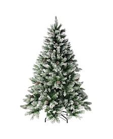 Flocked Angel Pine Artificial Christmas Tree - Unlit