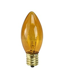 Pack of 25 Incandescent C9 Orange Christmas Replacement Bulbs