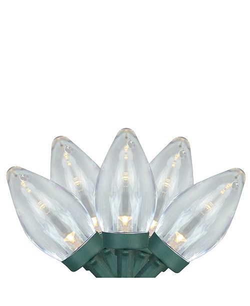 Northlight Set of 25 Warm White LED C7 Christmas Lights - Green Wire