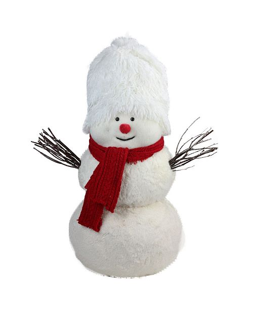 """Northlight 24.5"""" Snowman with Red Scarf Table Top Decoration"""