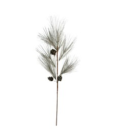 "40"" Long Needle and Pine Cone Platinum Artificial Christmas Spray"