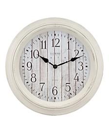 "La Crosse Clock 404-3036BW 14"" Barn Wood Wall Clock"