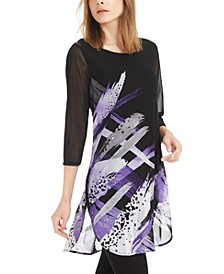 Petite Printed Super Tunic, Created For Macy's