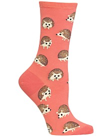 Hot Sox Women's Hedgehog Crew Socks