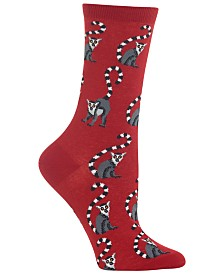 Hot Sox Women's Lemurs Crew Socks