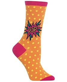 Women's Pop Crew Socks