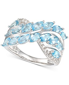 Blue Topaz (2-1/3 ct. t.w.) & Diamond (1/10 ct. t.w.) in Sterling Silver