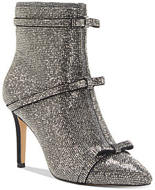 INC Women's Isauria Bow Bling Booties, Created for Macy's