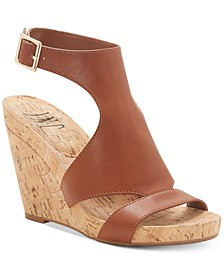 INC Women's Lizanne Shielded Wedge Sandals, Created for Macy's