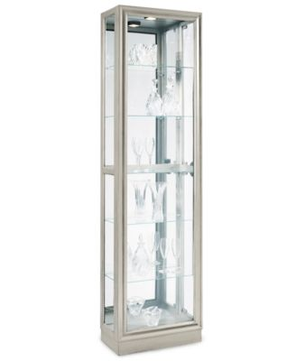 Platinum Curio Cabinet, Side Entry - Furniture - Macy's