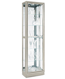 CLOSEOUT! Platinum Curio Cabinet, Side Entry