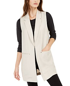 Sleeveless Notch-Collar Vest, Created For Macy's