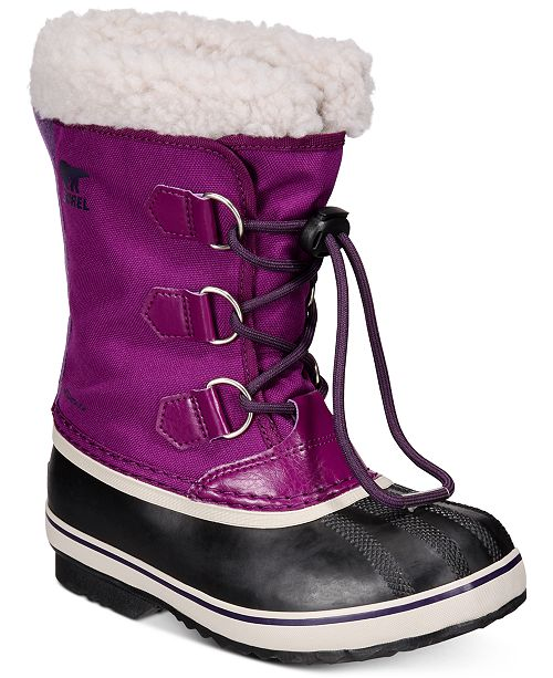 Sorel Youth Girls Yoot Pac Nylon Boots