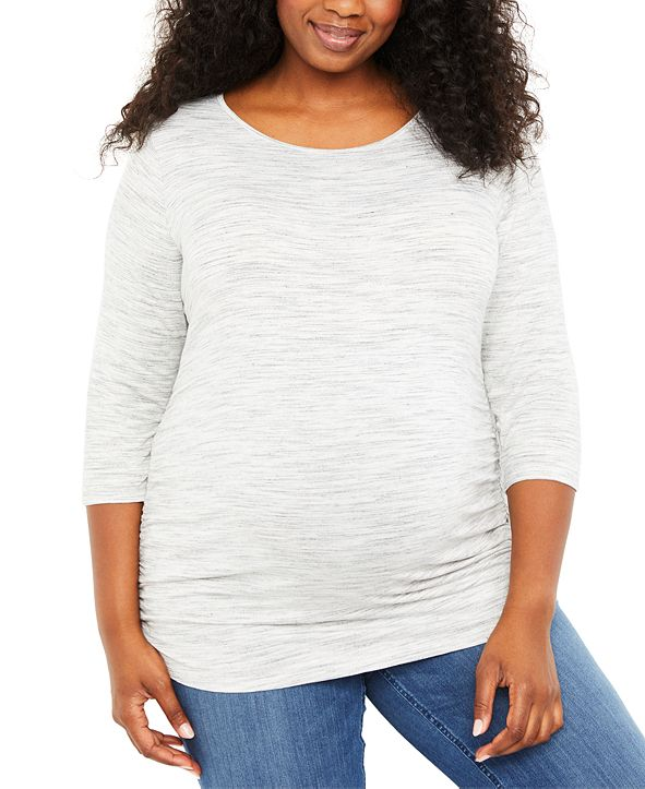 Motherhood Maternity Plus Size Ruched Top
