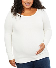 Plus Size Back Interest Sweater