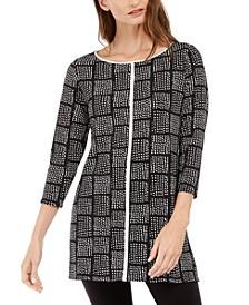 Printed 3/4-Sleeve Tunic, Created For Macy's