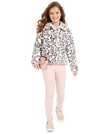 Big Girls Faux-Fur Jacket & Jeans, Created For Macy's