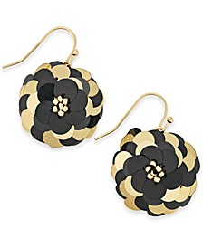 INC Gold-Tone Sequin Flower Drop Earrings, Created For Macy's