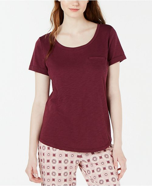Charter Club Crew Neck Knit Pajama Top, Created for Macy's