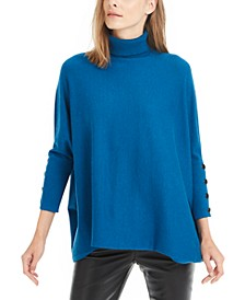 Drop-Shoulder Turtleneck Sweater