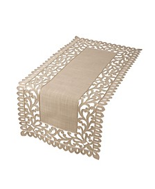 "Vine Embroidered Cutwork Table Runner, 16"" x 54"""