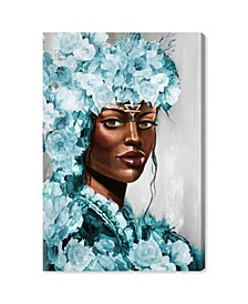 Flower Queen Teal Canvas Art Collection
