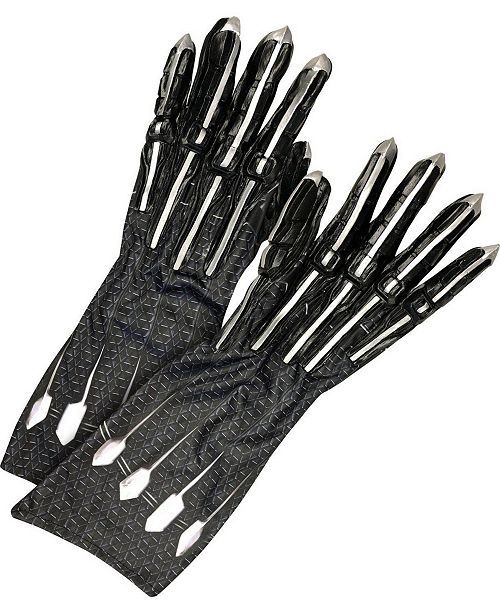 BuySeasons Avengers Adult Black Panther Deluxe Gloves