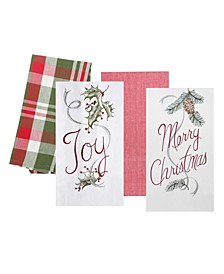 Merry and Joy Kitchen Towel, Set of 4