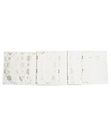 C&F Home Gold-Tone Foil Snowflake Runner