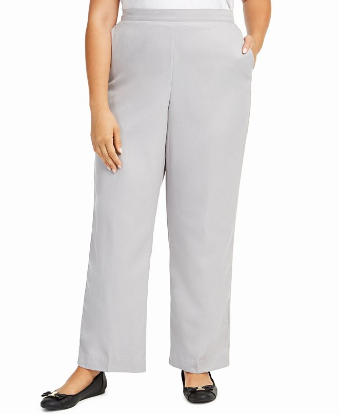 Alfred Dunner Plus Size Lake Geneva Pull-On Pants