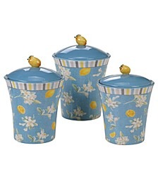 Citron 3 -Pc. Canister Set