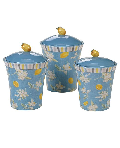 Certified International Citron 3 -Pc. Canister Set