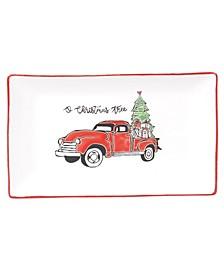 Holiday Greetings Rectangular Platter