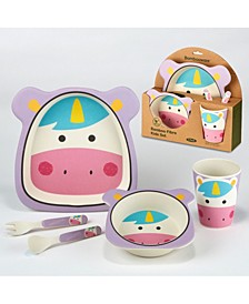 Unicorn Eco Friendly Bamboo Fiber 5-Pc. Kids Dinnerware Set