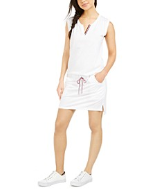 Drawstring Tank Dress Swim Cover-Up