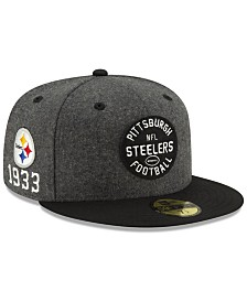 New Era Boys' Pittsburgh Steelers On-Field Sideline Home 59FIFTY-FITTED Cap