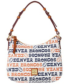 Denver Broncos Doodle Small Kiley Hobo