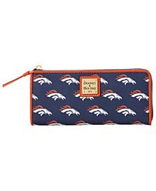 Denver Broncos Saffiano Zip Clutch