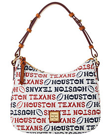 Dooney & Bourke Houston Texans Doodle Small Kiley Hobo