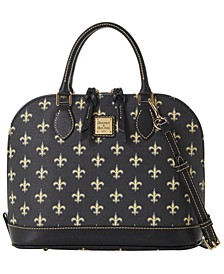 New Orleans Saints Saffiano Zip Satchel
