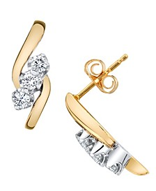 Diamond (1/3 ct. t.w.) Earrings in 14k Yellow and White Gold