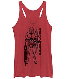 Women's Rise of Skywalker Red Trooper First Order Racerback Tank Top