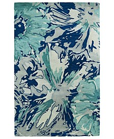 Brushstrokes BRS06-17 Blue Area Rug Collection