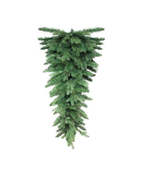 Northlight 4' Mixed Greenery Hanging Christmas Teardrop Swag - Unlit