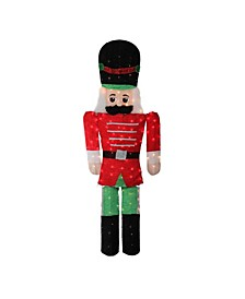 6' Pre-Lit Candy Cane Lane 2-D Toy Soldier Christmas Outdoor Decoration